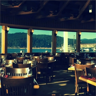 Cedars Floating Restaurant 1.7 miles to the west of Lakeview Dental Coeur d Alene ID 83814