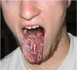 Tongue tattoos