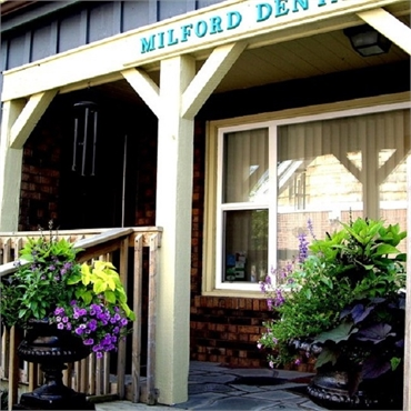 Entrance to Milford Dental Care Highland MI 48357