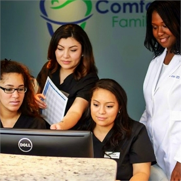 The dental team at Comfort First Family Dental