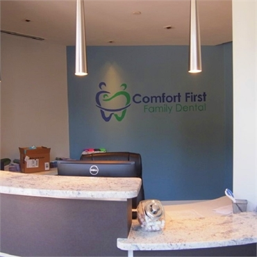 Front office desk at Comfort First Family Dental