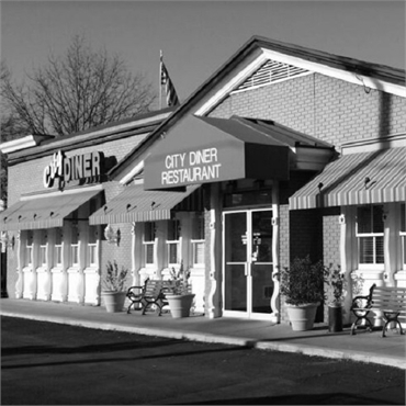 City Diner 12 minutes drive to the south of Falls Church dentist Comfort First Family Dental