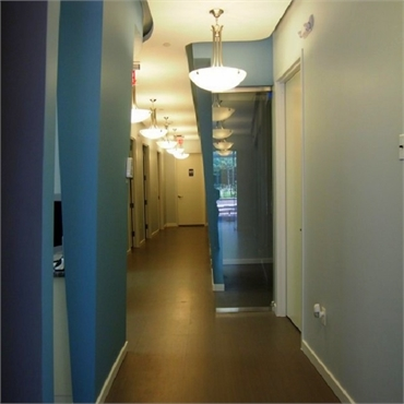 Hallway at Comfort First Family Dental