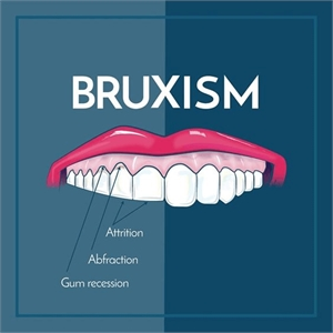 Effects of bruxism - people that clench and grind their teeth are more prone to attrition defects, abfraction lesions and gum recessions.