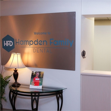 Reception area Hampden Family Dental