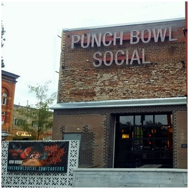 Punch Bowl Social Denver 7.5 miles to the north of Denver dentist Hampden Family Dental