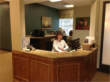 Reception staff at the office of Knoxville dentist Robert M. Kelso DDS