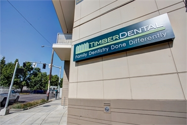 Signboard at Timber Dental East Burnside