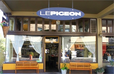 French restaurant Le Pigeon is 4 blocks away to the west of Portland dentist Timber Dental East Burn