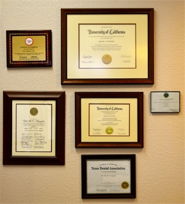 Dr. Tam Nguyen's Certifications