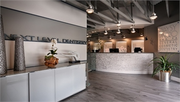 Reception area at Coral Springs dentist Dental Wellness Team