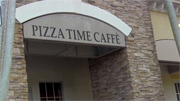 Pizza Time Cafe 13 minutes drive to the northeast of Parkland dentist Dental Wellness Team