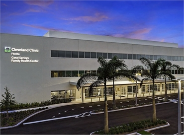 Cleveland Clinic Florida - Coral Springs Family Health Center 2.8 miles to the north of Coral Spring