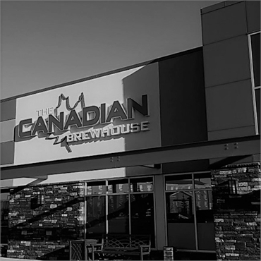 The Canadian Brewhouse a short walk to the north of Airdrie dentist Sonata Dental