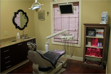 Dental chair in the operatory at Charpentier Family Dentistry