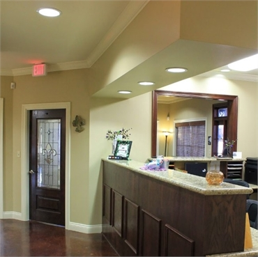 Reception center at New Iberia dentist Charpentier Family Dentistry