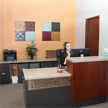 Reception center at cosmetic dentist in Englewood CO Lincoln Center Dental