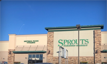 Sprouts Farmers Market a few blocks away to the southwest of Centennial dentist Ridgeview Dental
