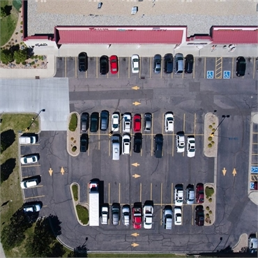 Aerial view of the location of Centennial dentist Ridgview Dental