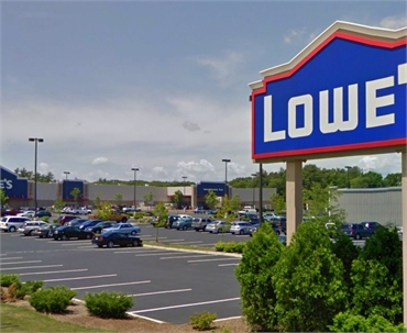 Lowe's Home Improvement 1 minute drive to the south of Abington Dental Associates