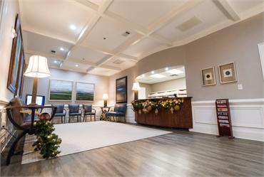 Reception center and waiting area Reich Dental Center Roswell GA