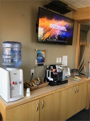 Refreshments at Shoreline Dental Care Milford CT