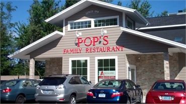 Pop's Family Restaurant 4 minutes drive to the east of Milford  Invisalign specialist Shoreline Dent