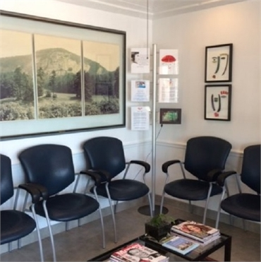 Waiting area at Boca Smile Center
