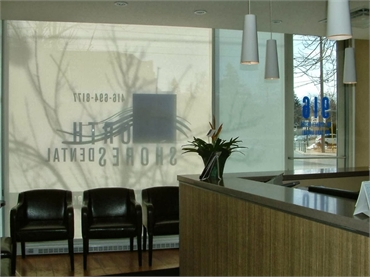 Waiting area at Toronto dentist North Shores Dental
