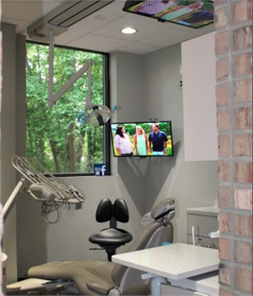 Dental operator chair at Raleigh dentist The Dental Market