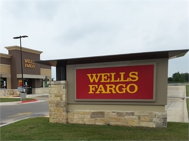 Wells Fargo Bank and ATM 5 minutes drive to the south of Cibolo Pediatric Dentistry