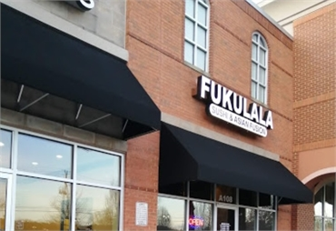 Fukulala Sushi Restaurant at 11 minutes drive to the east of Exceptional Dentistry at Johns Creek Ju
