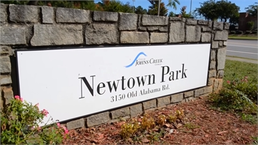 Newtown Park at 16 minutes drive to the west of Exceptional Dentistry at Johns Creek Judson T Connel