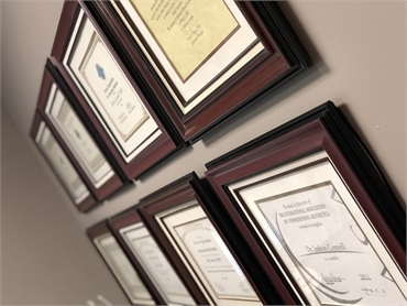 Accolades in the office at Suwanee dentist Exceptional Dentistry at Johns Creek Judson T. Connell DM