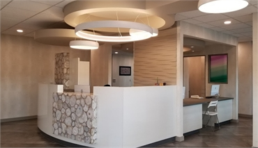 Reception area at Integral Dental Winnipeg MB