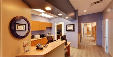 Check out office and hallway at New Port Richey dentist A Glamorous Smile