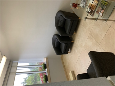 Comfy waiting area at Chula Vista dentist Estrella Dental
