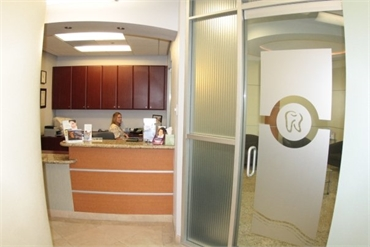 Reception center at Estrella Dental Chula Vista
