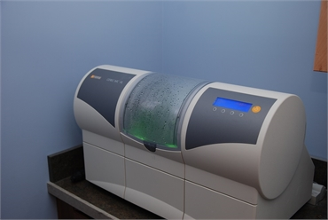 CEREC Milling and Grinding Unit at the office of Traverse City and Lake Leelanau dentist Lisa Siddal