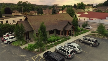 Ariel view of the office of Traverse City dentist Lisa Siddall DDS