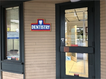 Entrance to the office of Lake Forest CA dentist