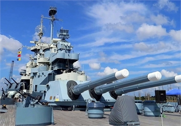 Battleship North Carolina 10 miles to the west of Wilmington NC dentist O2 Dental Group of Wilmingto