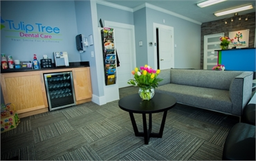 Waiting area at South Bend dentist Tulip Tree Dental Care