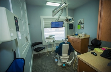 Operatory at South Bend dentist Tulip Tree Dental Care