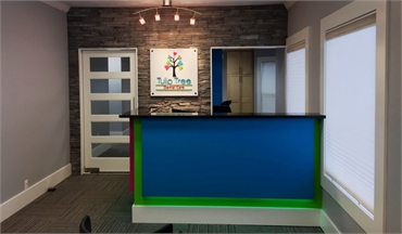 Reception area at South Bend dentist Tulip Tree Dental Care