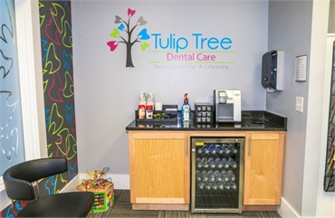 Refreshment area at South Bend dentist Tulip Tree Dental Care