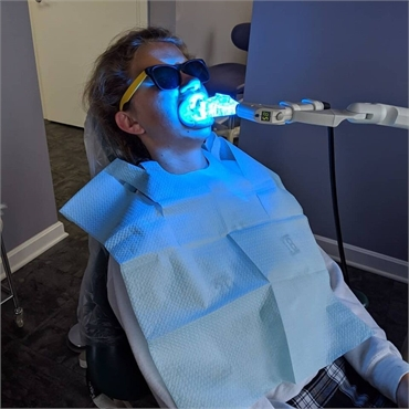 Teeth whitening procedure at Canton dentist Danner Dental