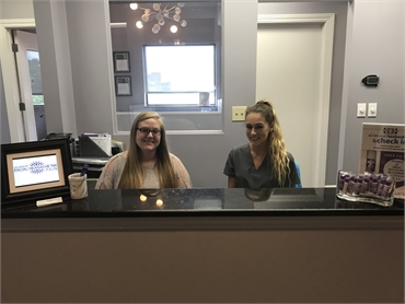 Reception desk at Canton dentist Danner Dental