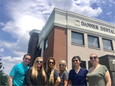 Team in front of Danner Dental building