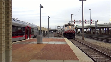 TEXRail and Trinity Railway Express at Fort Worth Central Station 11 miles to the north of Sycamore